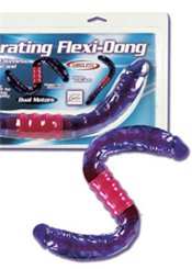California Exotic Double dong flexible vibrant - Dual Vibrating Flexi-Dong